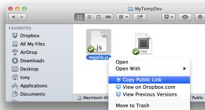 Dropbox Public Link Example