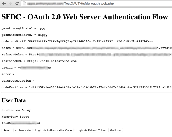 Connecting to Salesforce using OAuth 2 0 from PHP   melted:wires