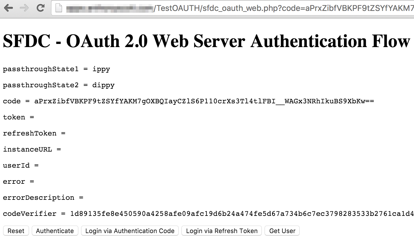 Connecting to Salesforce using OAuth 2 0 from PHP | melted:wires