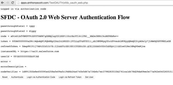 OAuth Code Login